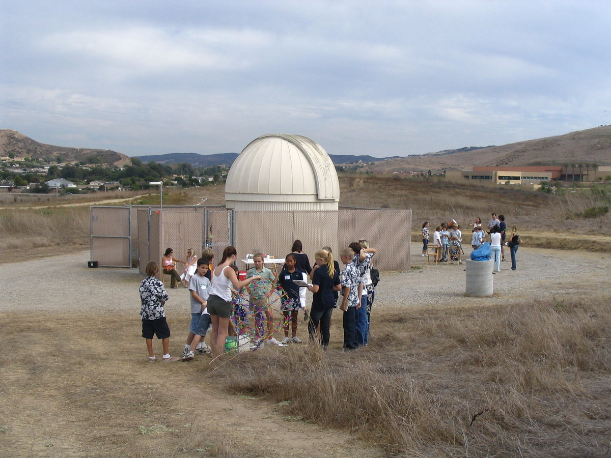 Astronmy Outreach event at the former UCI Observatory on the UCI campus.